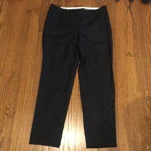 Ann Taylor black wool cropped pant